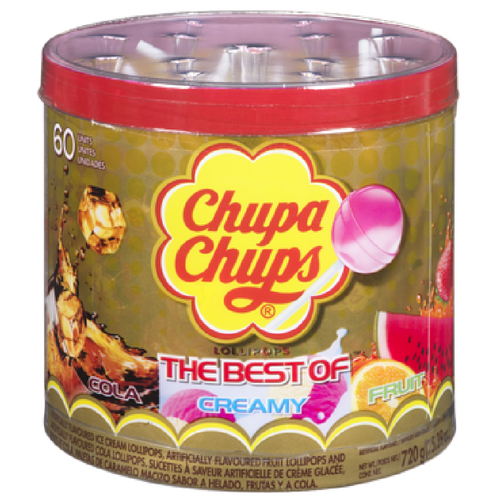 Chupa Chups The Best of Creamy, Cola and Fruit Lollipops