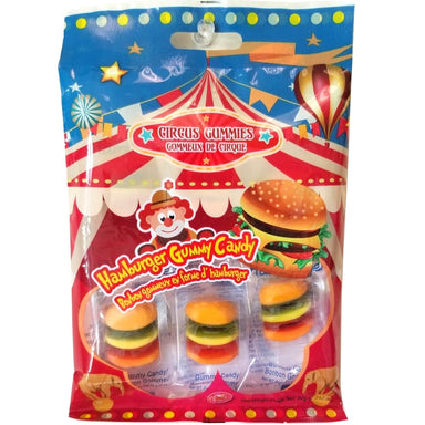 Circus Gummies Hamburger Gummy burgers Candy 6 pc 60g - 12CT - Exclusive Brands - halal gelatin burger candies - Canadian made in Canada