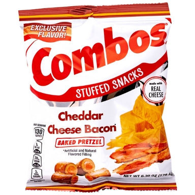 Combos Cheddar Cheese Bacon Baked Snacks - 12 CT