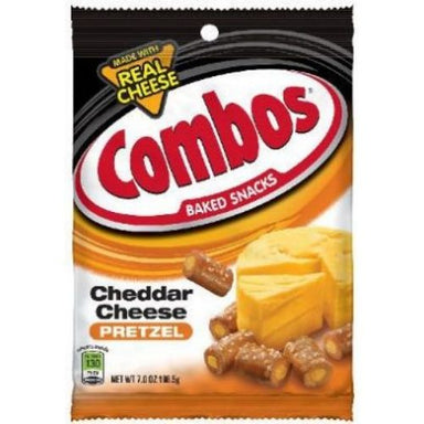 Combos Cheddar Cheese Pretzel Baked Snacks-12 CT
