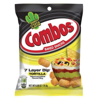 Combos 7 Layer Dip Tortilla Baked Snacks-12 CT