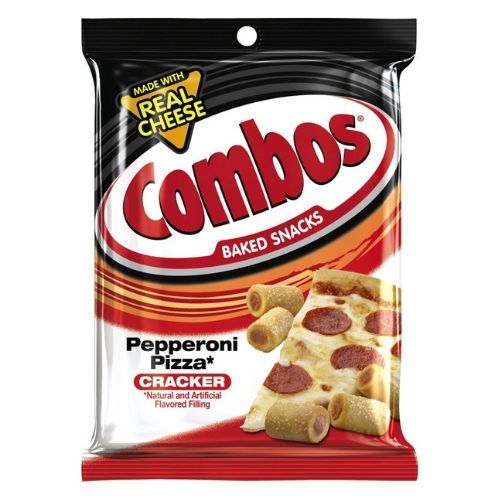 COMBOS Pepperoni Pizza Cracker Baked Snacks-12 CT