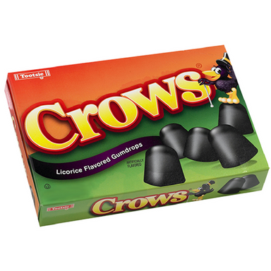 Crows Licorice Flavored Gumdrops Theater Box Old Fashioned Candy