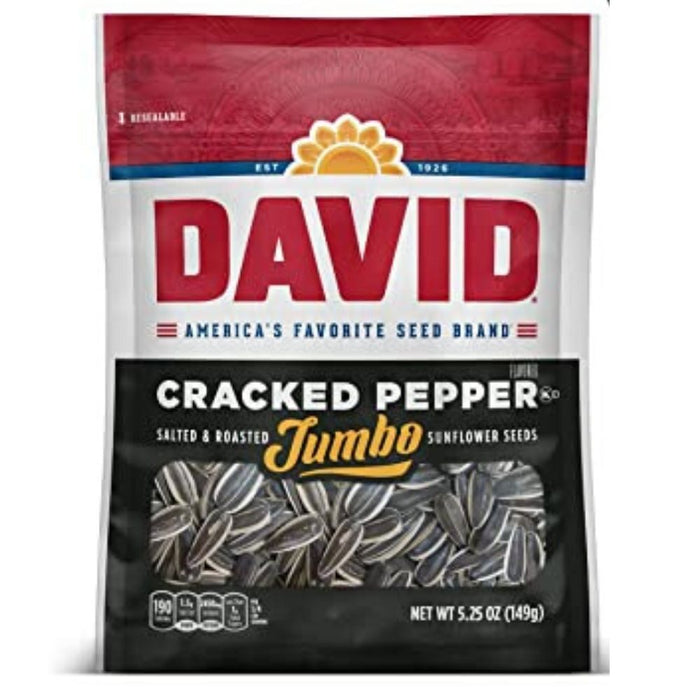 David Cracked Pepper Jumbo Sunflower Seeds | iWholesaleCandy.ca