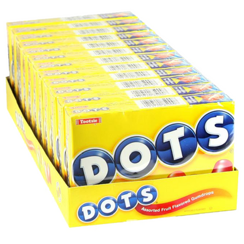DOTS Fruit Flavored Gum Drops Theater Box 12CT