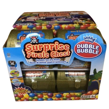 Dubble Bubble Surprise Pirate Chest 12g - 12CT