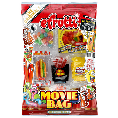 efrutti Gummi Candy Movie Bag Gummy Candy-12 CT