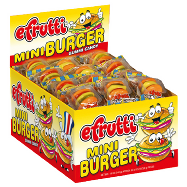efrutti Gummi Mini Burger Gummy Candy-60 CT