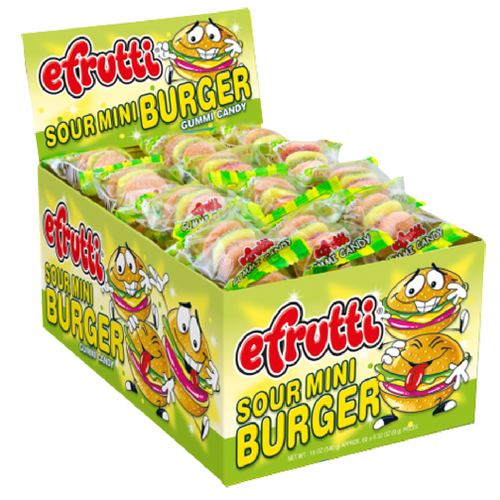 efrutti Gummi Sour Mini Burger Gummy Candy 60 ct-Wholesale Candy Toronto