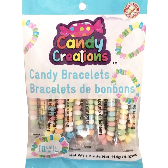 Candy Creations Candy bracelets 5 Pack - 18CT New Canadian Wholesale  Candy kids school safe Peanut Free bracelet jewelery candies