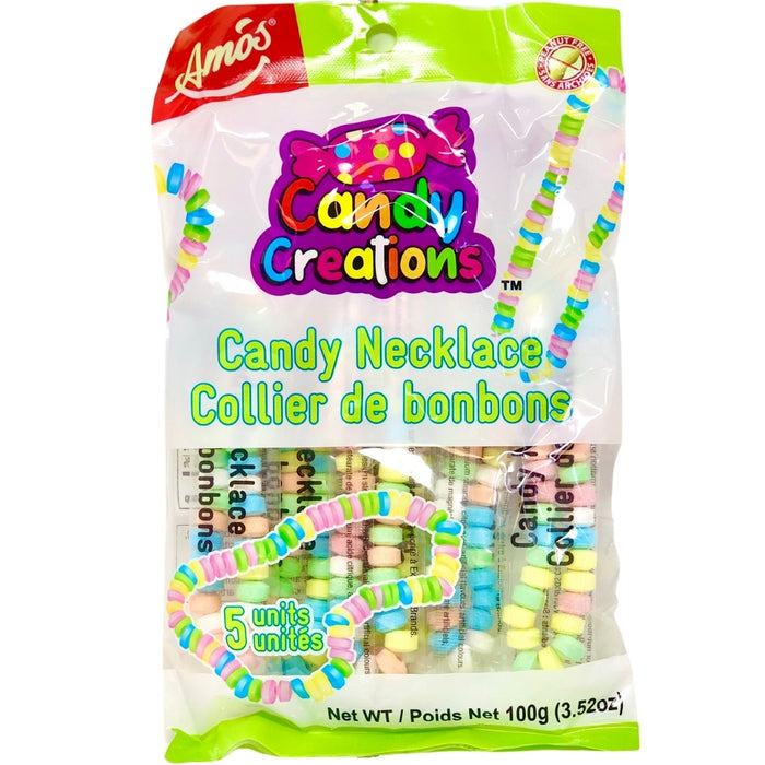 Candy Creations Candy Necklaces 5 Pack - 18CT New Canadian Wholesale  Candy kids Peanut Free school candies