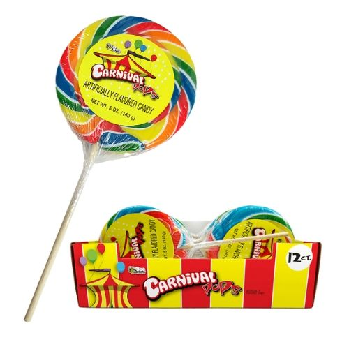 Giant Carnival Pops Lollipops at Wholesale Prices
