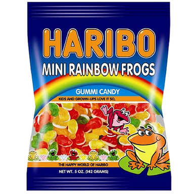 Haribo Mini Rainbow Frogs Gummy Candy
