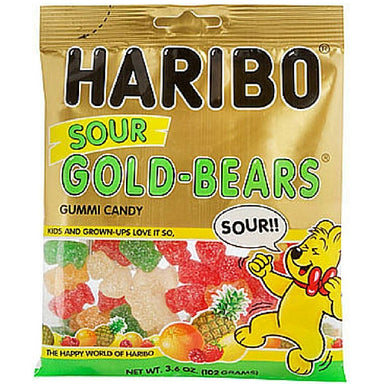 Haribo Sour Gold Bears Gummy Candy