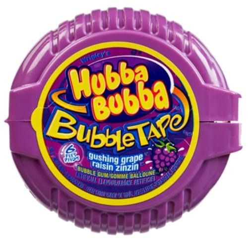 Hubba Bubba Bubble Tape Gushing Grape Bubble Gum