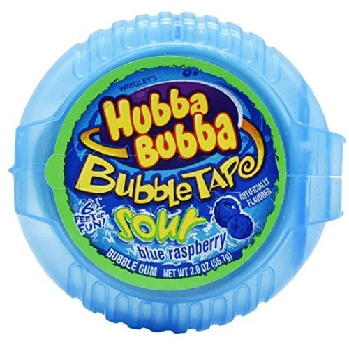 Hubba Bubba Bubble Tape Sour Blue Raspberry Bubble Gum