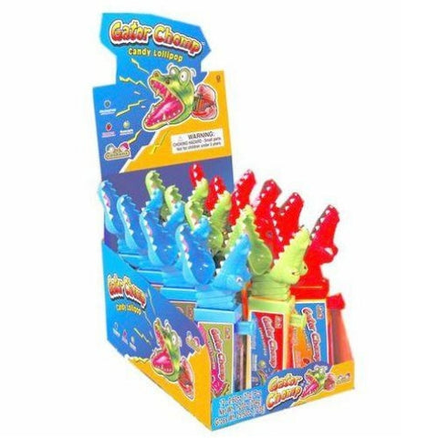 Kidsmania Gator Chomp Lollipops-Wholesale Candy Canada