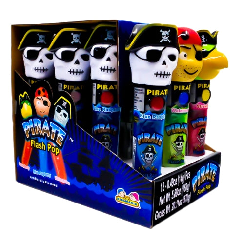 Kidsmania Pirate Flash Pop Lollipops-Wholesale Candy