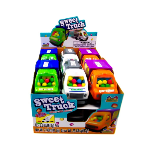 Kidsmania Sweet Truck filled with Colourful Candy-12 Count Box