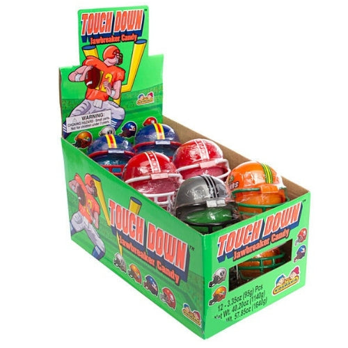 Kidsmania Touchdown Helmets with Sour Jawbreakers Candy