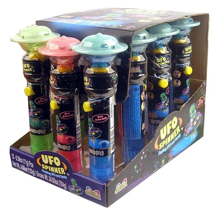Kidsmania UFO Spinner Pop 0.39oz - 12CT