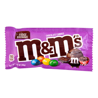 M&M's Fudge Brownie Chocolate Candies-24 CT