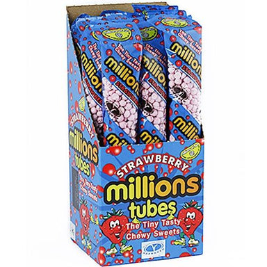 Millions Strawberry Tubes British Confections-12 Count