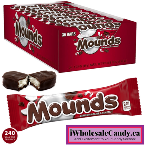 Mounds American Chocolate Bars Wholesale Candy iWholesaleCandy.ca