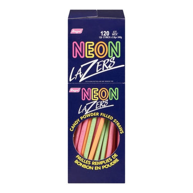 Neon Lazer Strawz Retro Candy- 120CT
