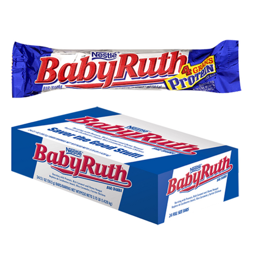 Baby Ruth Chocolate Bars 24 Count-Wholesale Candy Canada