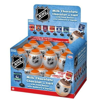 NHL Milk Chocolate Surprise Eggs with Canadian NHL Team Banner