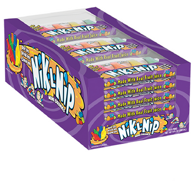 Nik-L-Nip Wax Bottles Candy 5-Packs 18 Count Box