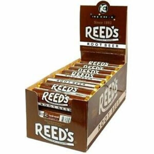 Reeds Root Beer Hard Candy Rolls-24 CT