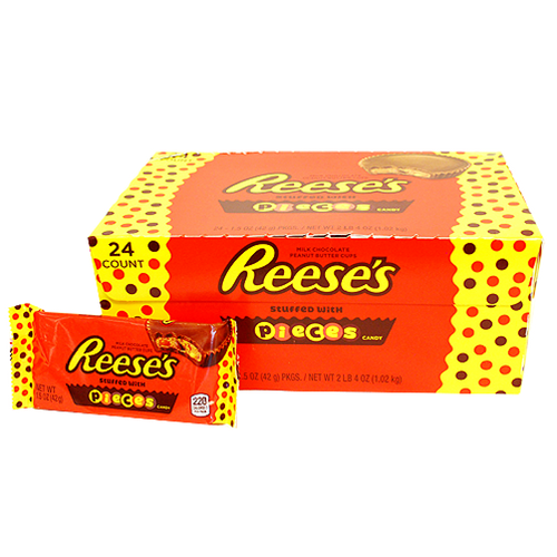 Reese's Pieces Peanut Butter Cups Standard Size 24 Count-i Wholesale Candy Canada