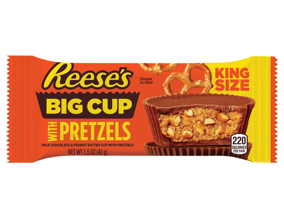 Reese's Big Cup Stuffed with Pretzels KING size 2.6oz - 16CT