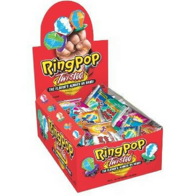 Ring Pop Twisted Candy-24 CT Lollipops