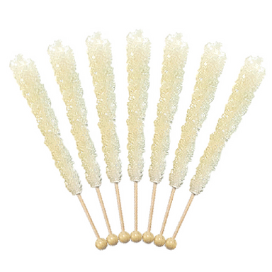Rock Candy On A Stick-White Sugar Old Fashioned Candy