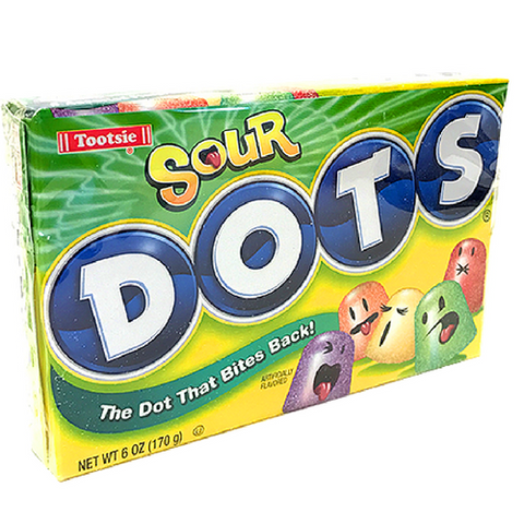 Sour DOTS Gumdrops Theater Box Old Fashioned Candy