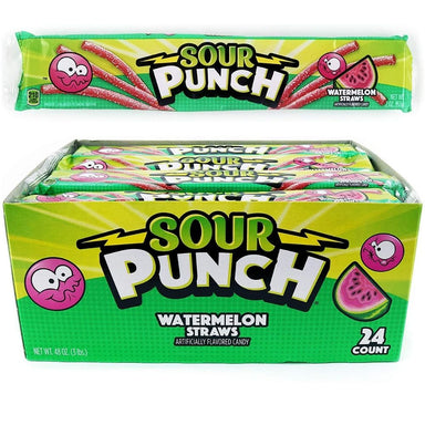 Sour Punch Watermelon Licorice Straws 2oz - 24CT