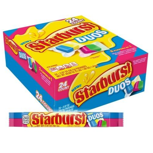 Starburst Fruit Chews Duo Candy-24 CT