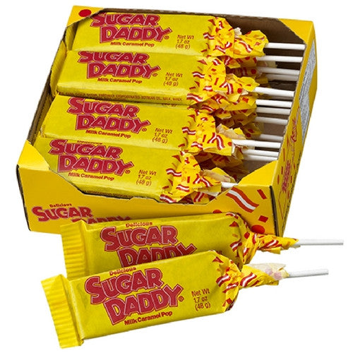 Sugar Daddy Caramel Suckers Retro Candy