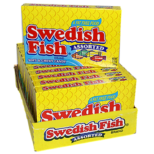Swedish Fish Assorted Candy Theater Box Retro Candy 12CT