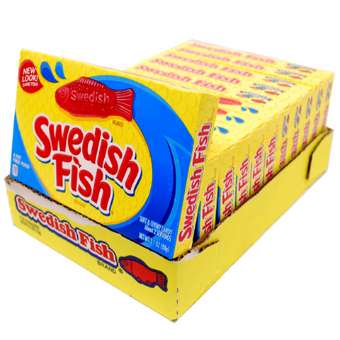 Swedish Fish Candy Theater Box Retro Candy 12 Count
