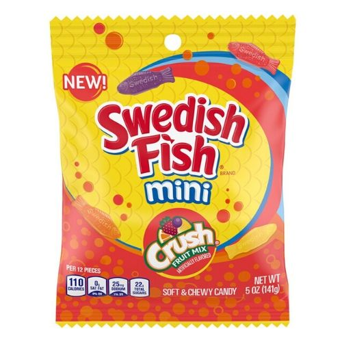 Swedish Fish Mini Crush Candy-12 CT