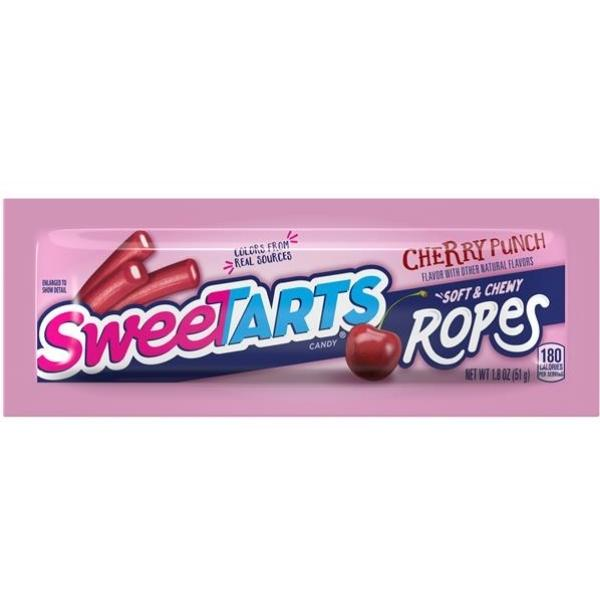 Sweetarts Soft & Chewy Ropes Cherry Punch 1.8oz - 24CT