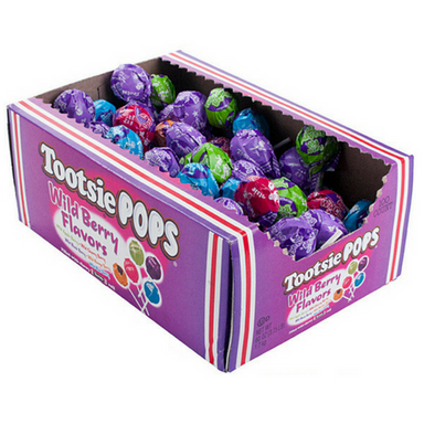Tootsie Pops Wild Berry Flavors Lollipops Retro Candy