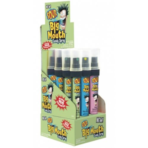 Topps Big Mouth Sour Candy Spray-12 CT