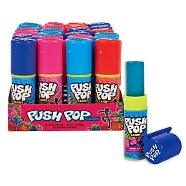 Topps Push Pop Candy 36 CT Lollipops-Bazooka Candy Brands