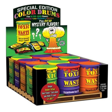 Toxic Waste Hazardously Sour Candy with Mystery Flavour-12 CT