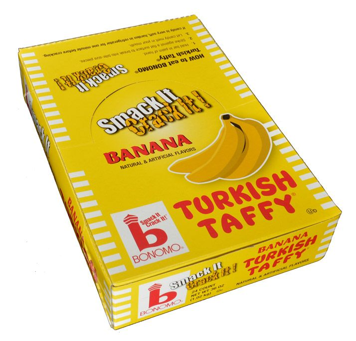 Bonomo Turkish Taffy Banana 1.5oz - 24CT